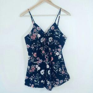 Forever 21 Floral Romper Shorts